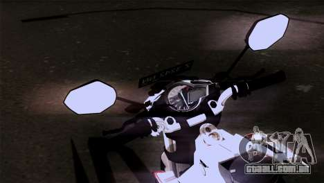 Yamaha Vixion Advance Lominous White para GTA San Andreas vista direita