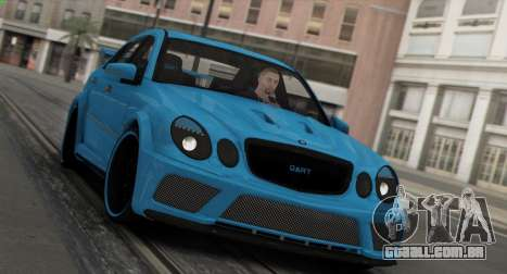 Mercedes-Benz E63 Qart Tuning para GTA San Andreas vista inferior