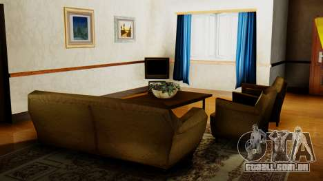 O novo interior da casa do CJ para GTA San Andreas quinto tela