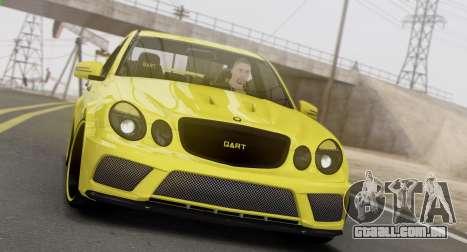 Mercedes-Benz E63 Qart Tuning para GTA San Andreas esquerda vista