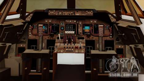 Boeing 747 British para GTA San Andreas vista interior