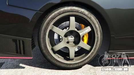 GTA 5 Nissan GT-R Nismo 2015 traseira direita vista lateral