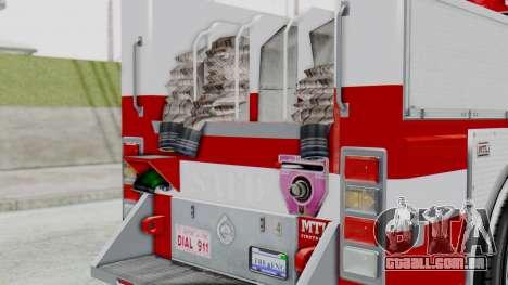 MTL SAFD Firetruck Flat Shadow para GTA San Andreas vista traseira