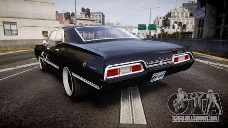 Chevrolet Impala 1967 Custom livery 4 para GTA 4 traseira esquerda vista