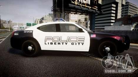Dodge Charger Police Liberty City [ELS] para GTA 4 esquerda vista