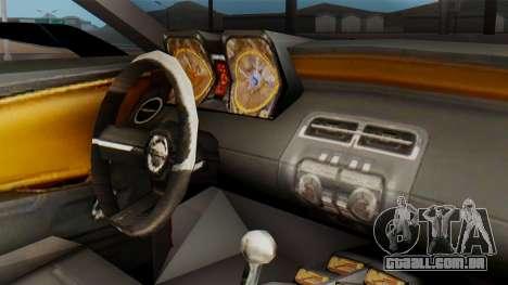 NFS Carbon Chevrolet Camaro para GTA San Andreas vista direita