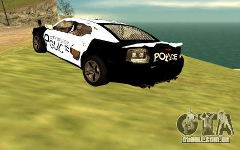 Dodge Charger Super Bee 2008 Vice City Police para GTA San Andreas vista traseira
