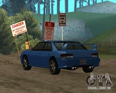 Sultan v1.0 para GTA San Andreas traseira esquerda vista