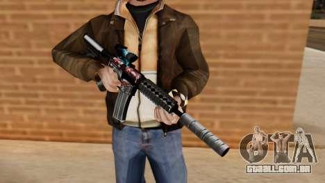 M4A1 UASS para GTA San Andreas terceira tela