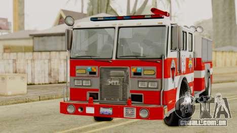 MTL SAFD Firetruck para GTA San Andreas vista direita