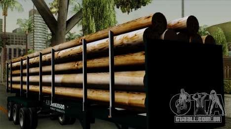 Trailer Log v2 para GTA San Andreas vista interior