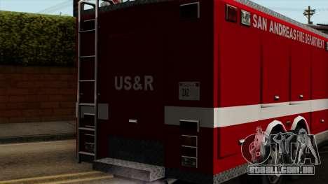 FDSA Urban Search & Rescue Truck para GTA San Andreas vista traseira