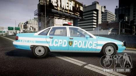 Chevrolet Caprice 1991 Police para GTA 4 esquerda vista