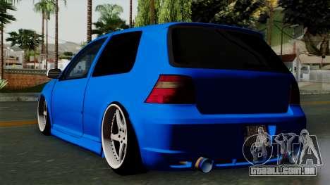 Volkswagen Golf Mk4 Stance para GTA San Andreas esquerda vista