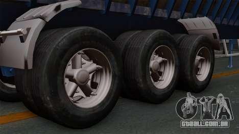 Trailer Silos para GTA San Andreas traseira esquerda vista