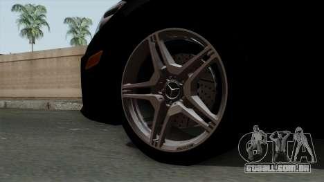 Mercedes-Benz E63 AMG Police Edition para GTA San Andreas traseira esquerda vista