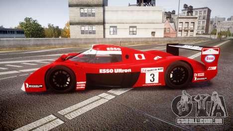 Toyota GT-One TS020 Le Mans 1999 para GTA 4 esquerda vista