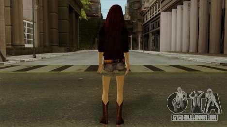 Amy Pond from Doctor Who para GTA San Andreas terceira tela