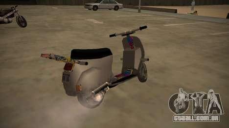 Stunt-Faggio para GTA San Andreas traseira esquerda vista