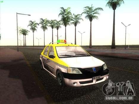 Dacia Logan Táxi UNIVIP para GTA San Andreas
