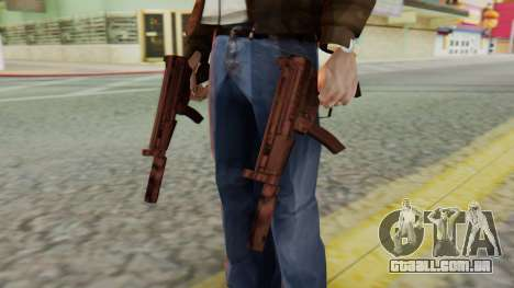 MP5K Silenced SA Style para GTA San Andreas terceira tela