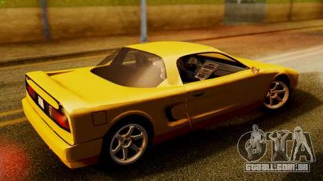 HD Infernus para GTA San Andreas traseira esquerda vista