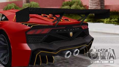 Pegassi Zentorno SM GT3 para GTA San Andreas vista traseira