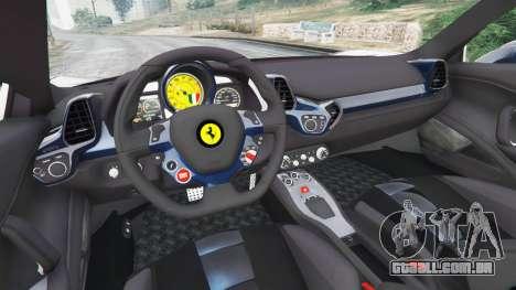 GTA 5 Ferrari 458 Italia v1.0.5 traseira direita vista lateral