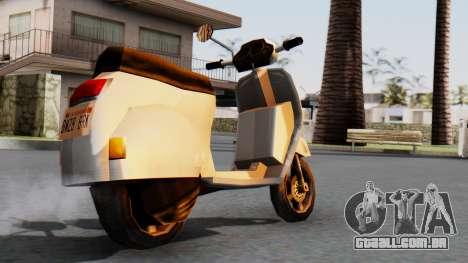 New Faggio para GTA San Andreas esquerda vista