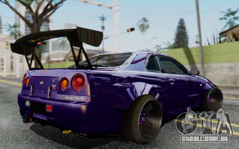 Nissan Skyline GT-R R34 Battle Machine para GTA San Andreas esquerda vista