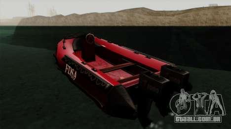 FDSA Dinghy para GTA San Andreas esquerda vista