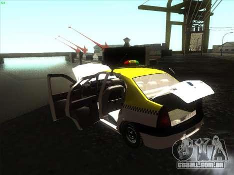 Dacia Logan Táxi UNIVIP para GTA San Andreas vista direita