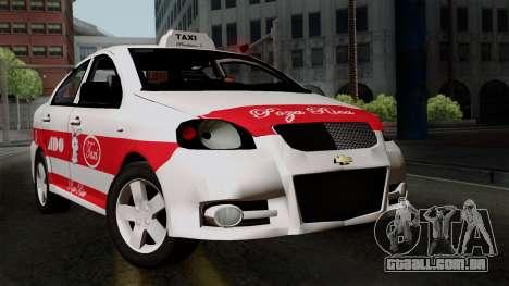 Chevrolet Aveo Taxi Poza Rica para GTA San Andreas