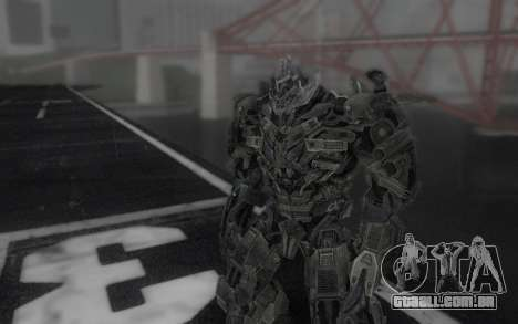 Megatron TF3 para GTA San Andreas segunda tela