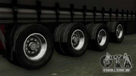 Trailer Krone Profiliner v4 para GTA San Andreas traseira esquerda vista