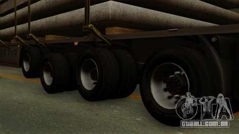 Flatbed3 Grey para GTA San Andreas traseira esquerda vista