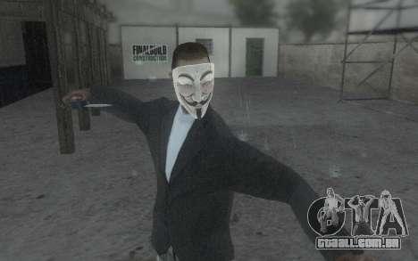 DayZ Mask para GTA San Andreas por diante tela