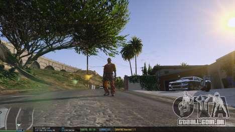 GTA 5 A barra de status v. 0.1 segundo screenshot