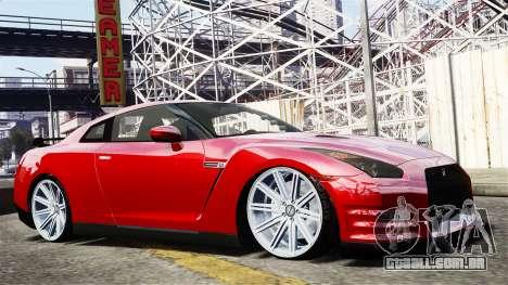 Nissan GT-R AMS 2012 para GTA 4 vista de volta