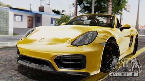 Porsche Boxter GTS 2016 para GTA San Andreas