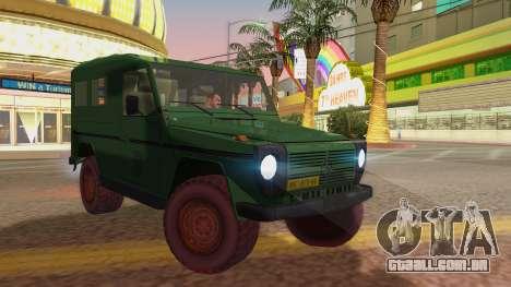 Mercedes-Benz G Wolf Croatian Army para GTA San Andreas