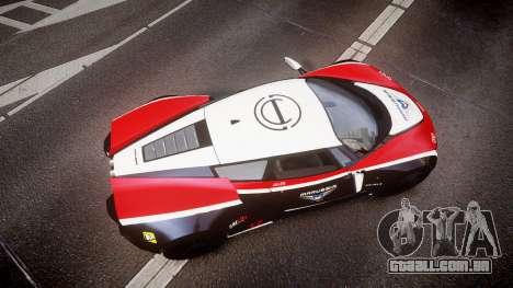 Marussia B2 2012 Jules para GTA 4 vista direita