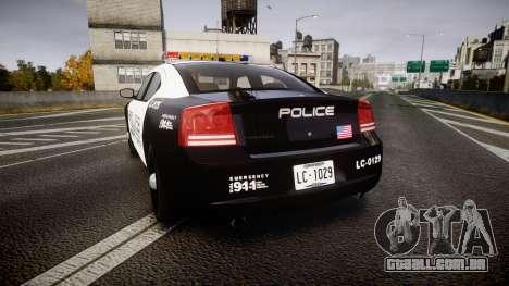 Dodge Charger Police Liberty City [ELS] para GTA 4 traseira esquerda vista