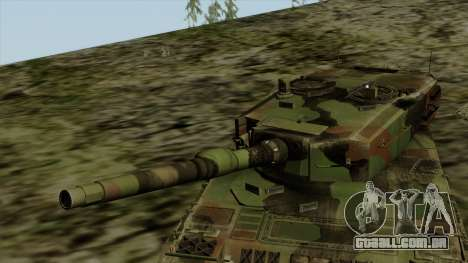 Leopard 2A4 para GTA San Andreas vista traseira