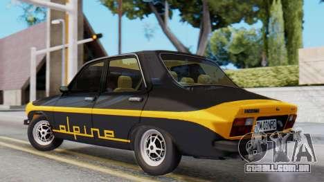 Renault 12 Alpine para GTA San Andreas esquerda vista