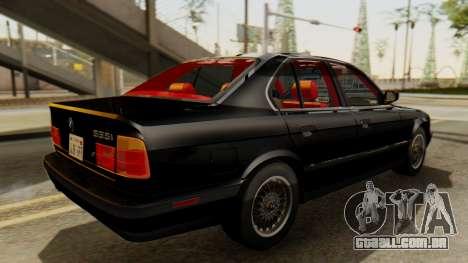 BMW 535i E34 1993 para GTA San Andreas traseira esquerda vista