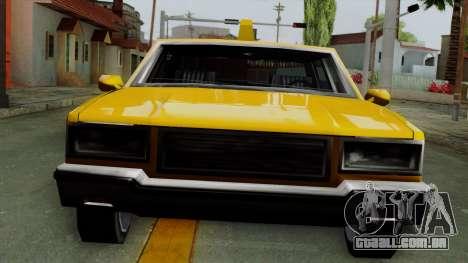 Classic Taxi Los Santos para GTA San Andreas traseira esquerda vista