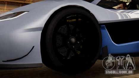 Progen T20 GTR para GTA San Andreas traseira esquerda vista