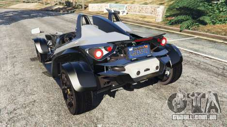 GTA 5 KTM X-Bow [Beta2] traseira vista lateral esquerda