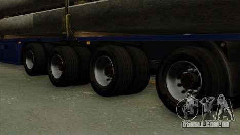 Flatbed3 Blue para GTA San Andreas traseira esquerda vista